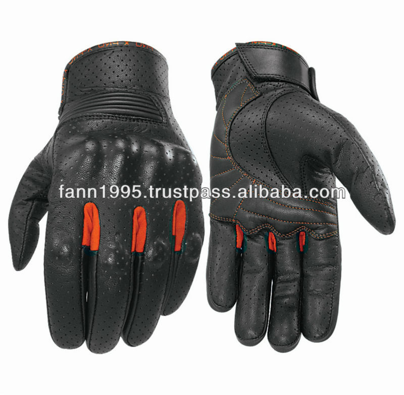 motorcycle gloves summer vented leather motorbike gloves