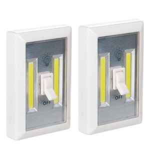 Hot Selling Flexible Wall Mounted COB LED Switch Light Lamp hands free cordless night work light