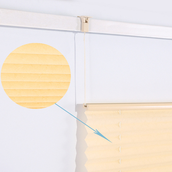 Europe Popular Cheap Price Yellow Vertical Cordless Pleated Blind for Window