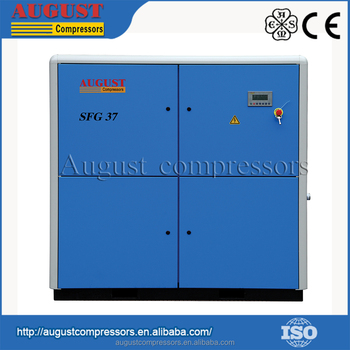 SFG37D 37KW/50HP 8 bar AUGUST stationary air cooled screw air compressor china screw air compressor discount china