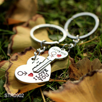 Wholesale I Love You Heart Shaped Metal Key Ring Chains