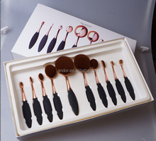 Shenzhen factory Cheap price oval toothbrush makeup brush set