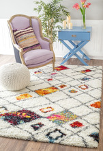 CHINA SUPPLIER of hot selling moroccan trellis soft shag rug