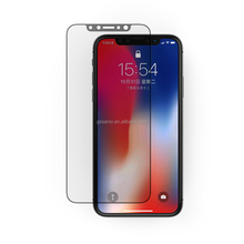 Alibaba China Factory New Products privacy Anti-fingerprint Tempered Screen Protectors Glass For iPhone X