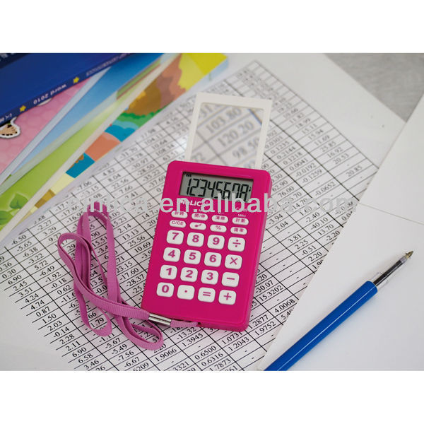8 digit fancy calculator with magnifying glass CA-89
