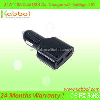 Quick Charge 2.0 36W 4.8A Car charger 2 usb ports Charging Station Hub for iPhone 6S 6 6 Plus