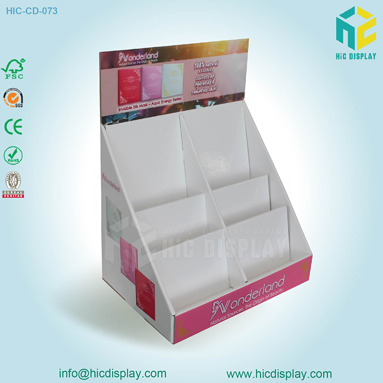 Tablet paper skin care display stand