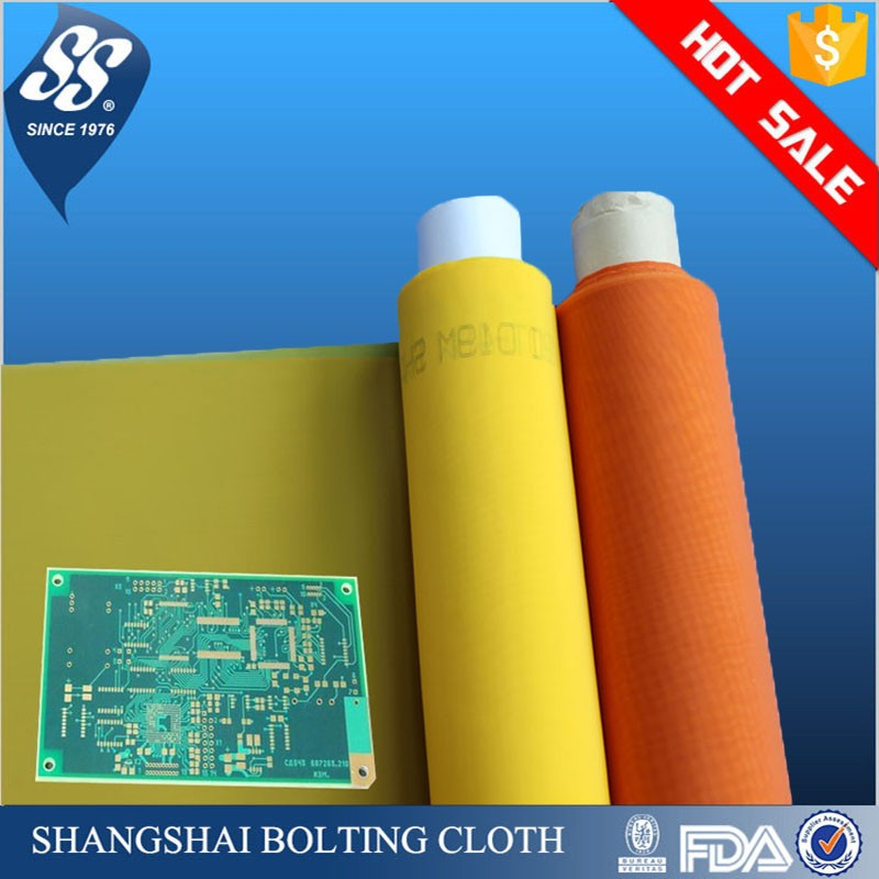 high tension white yellow 80 100 200 250 280 300 mesh polyester monofilament silk screen printing mesh, bolting cloth