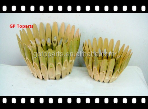 Garden Plants Basin Home Decoration Bamboo Basin Craft Natural Color
