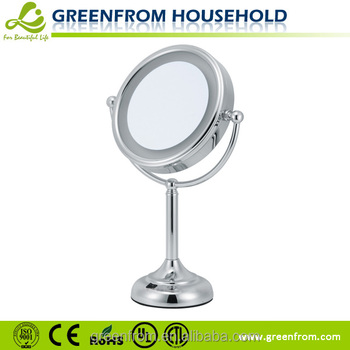 8 inch Fancy Fogless Double Sided Magnifying LED Bathroom Mirror