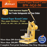 100/3mm radius hand operated paper cutting round corner machine