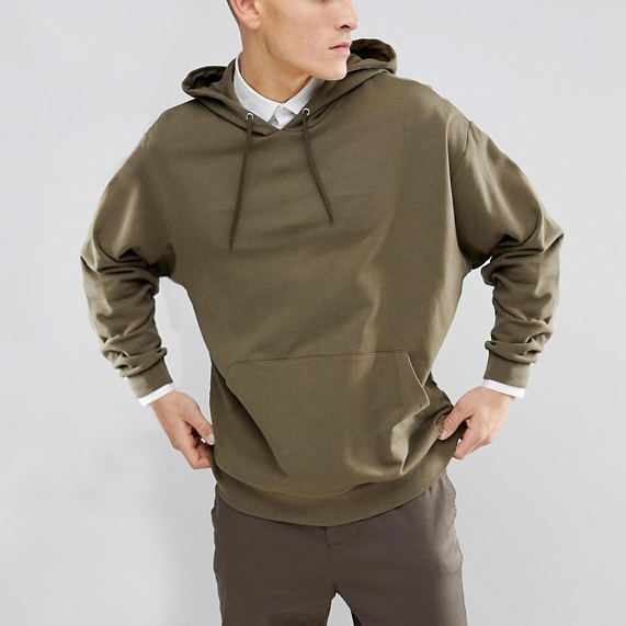 oversized based casual solid color plain washed green drawstring hooded hoodies men with front pocket