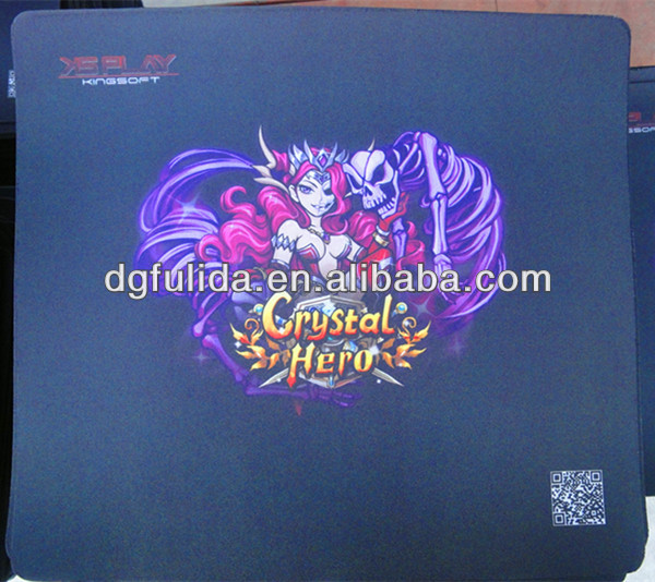 The devil with beauty Crystal Hero QR Code Purple Gaming Sublimation Mouse Mat
