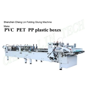 Automatic Small Plastic Carton Box Folder Gluer Corner Pasting Edge Folding Cold Gluing Machine