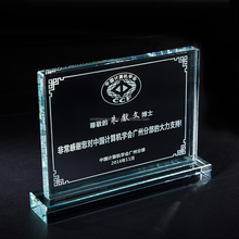 2017 new design desk-top k9 custom crystal trophy and award