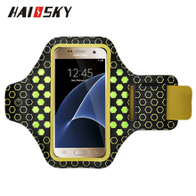 HAISSKY Neoprene LED Sport Running Armband for iPhone 6/6s/7/8/x Samsung Galaxy S4 S5 S6 Edge Touch Screen Cover