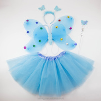 Sequined fairy wings and tutu costume for girls