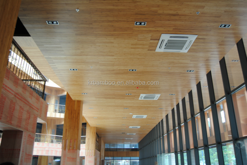100% Eco friendly --Indoor bamboo wall and ceiling panels 10mm