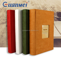 GuanMei Fabric Cover Book Bound 50 Sheets Photo Album With 3up 4D Slip In Pocket 300 Photos