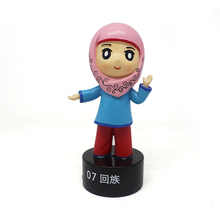 Hui nationality beautiful sexi girl resin figure