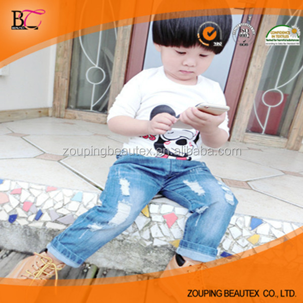 wholesale bule low price baby jeans
