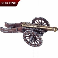 High Quality Garden Decoration Bronze Cannon