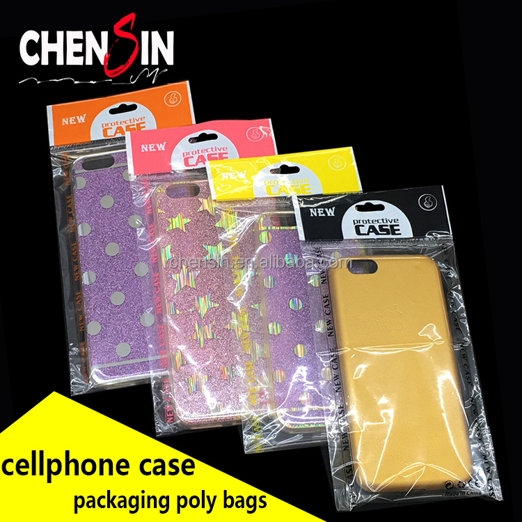 printing new case plastic adhesive tape bags clear opp bag for any item No. phone case