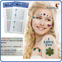 Acrylic/puffy glitter/ epoxy face jewel sticker make up use product