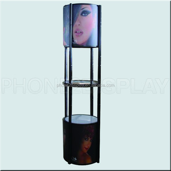 6.4ft height trade show tool free exhibition spiral tower showcase