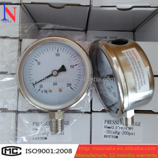 china facotry supplied full stainless steel digital oil pressure gauge