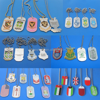 2015 latest products engraved custom logo dog tags with chain for men(BS-JL-DT-14110501)