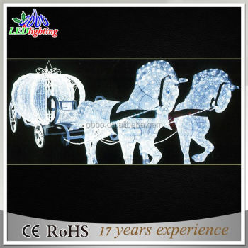 3D LED acrylic reindeer with sleigh christmas lighting made in China