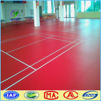 wholesale colorful International standard moveable plastic indoor badminton court PVC flooring