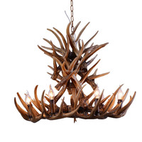 Antler Chandelier Antique Pendant Light Deer Antler Decorative Modern Restaurant Hotel Lobby Project Chandelier Lighting