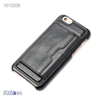 2016 4.7'' Credit Card Folding Holder PU Leather PC Mobile Phone Case for iphone 6/6s