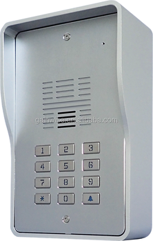 3G PIN code backlit keypad intercom GSM door phone gate remote control via call SMS for apartment or flats 6657
