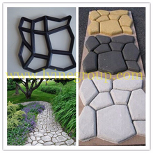 Hot!!! top quality DIY culture garden sidewalk plastic interlock decorative brick molds for sale