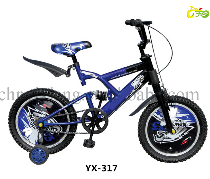 Original new bike for kids bicycle BMX bike dirt bike with frame suspension and hub cover motorcycle look-16''