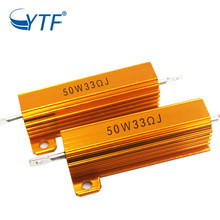 High Quality Aluminum Gold Case Resistor 50w 30r Housed Wirewound Power <strong>Resister</strong>