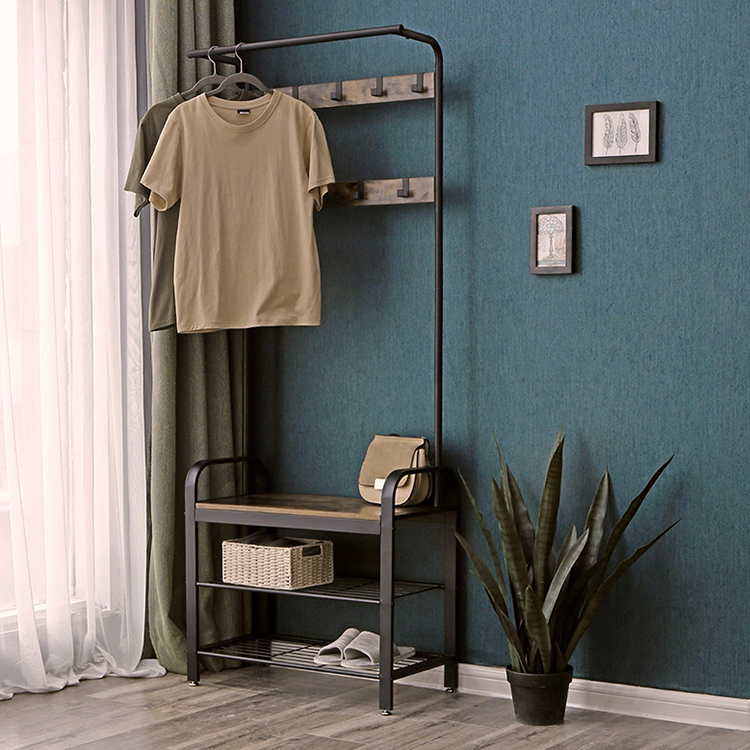 Furniture <strong>Manufacturers</strong> List Metal Wood Coat Rack With <strong>Shoe</strong> Stand Hall Tree With <strong>Shoe</strong> Rack
