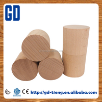 50*50mm Plain Wood Cylinder Blocks, 5 pcs/set