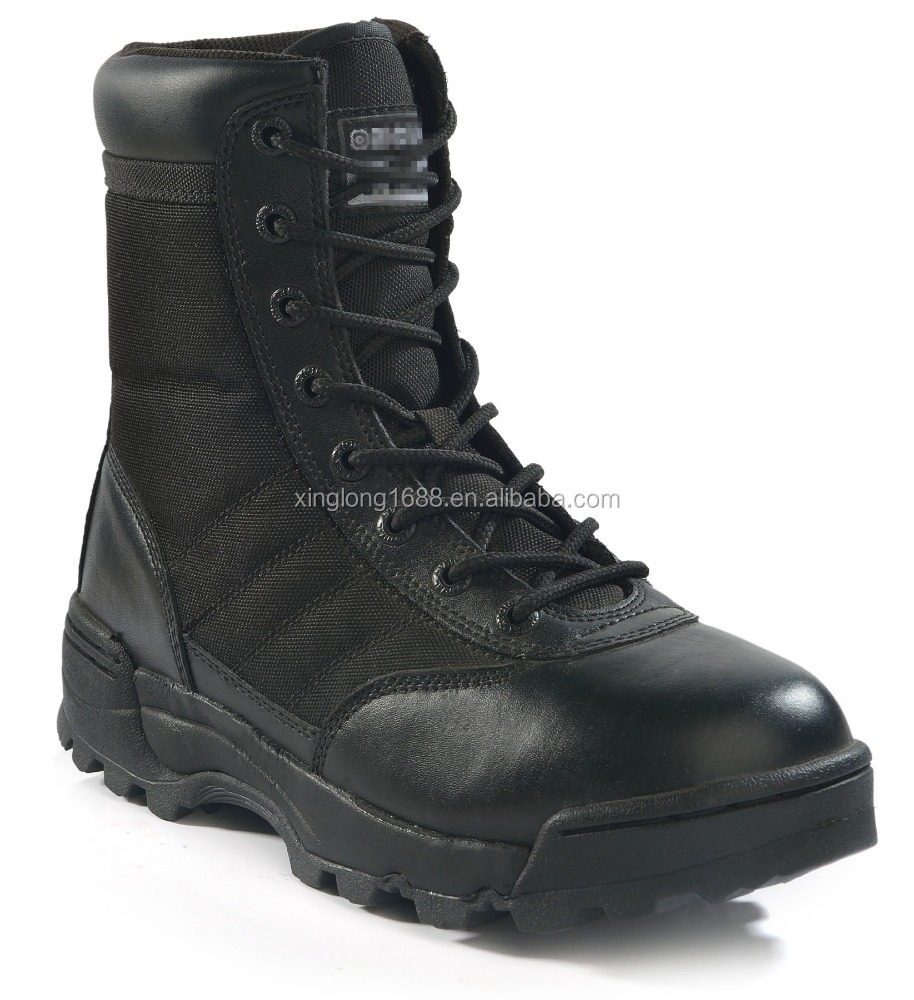 2017 Black color combat boots for soldier