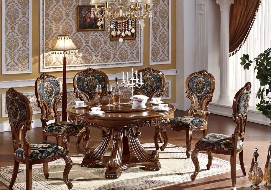 Bisini luxury used latest wooden dining table designs for Full room furniture design