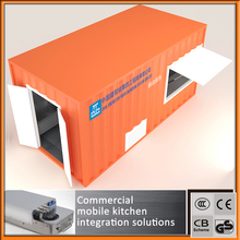 Professional manufacturing Mobile kitchen container kitchen prefab container restaurant