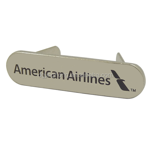 Custom American Airlines Metal Label for Handbag