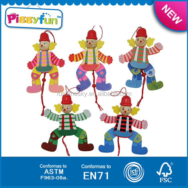 Promotion gifts dancing puppet wooden string puppet AT11697