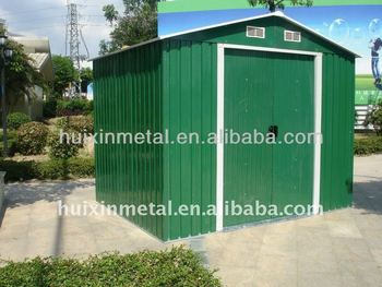 Home garden used prefabricated metal shed sale hx81122 for Used metal garden sheds for sale
