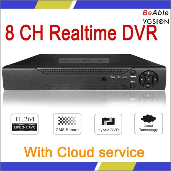 h.264 4ch dvr combo cctv camera kit realtime hybird dvr in stock for sale