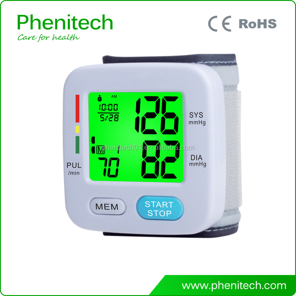 Type of wrist blood pressure monitors with 2*90 sets memory