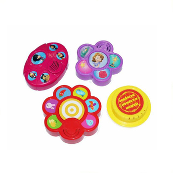 different shape sound moudle with button for kids coloring talking book